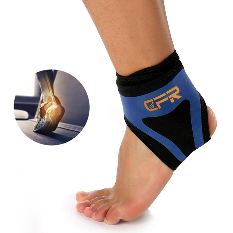 1pcs Safety Ankle Support Gym Running Protection Black Foot Bandage Elastic Ankle Brace Band Guard Sport Support Sports Accessories Ankle Support