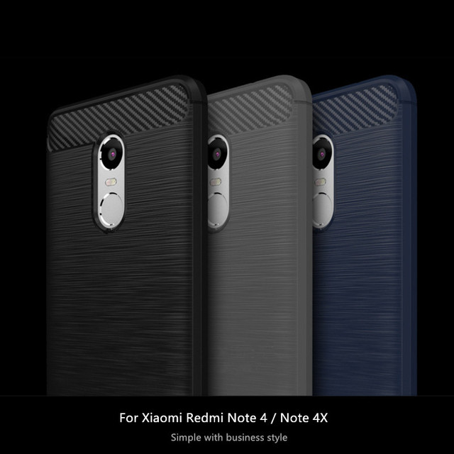 WolfRule Case Xiaomi Redmi Note 4 Cover Redmi Note 4x Funda Shockproof Silicon Brushed Style Case sFor Xiaomi Redmi Note 4 Case}