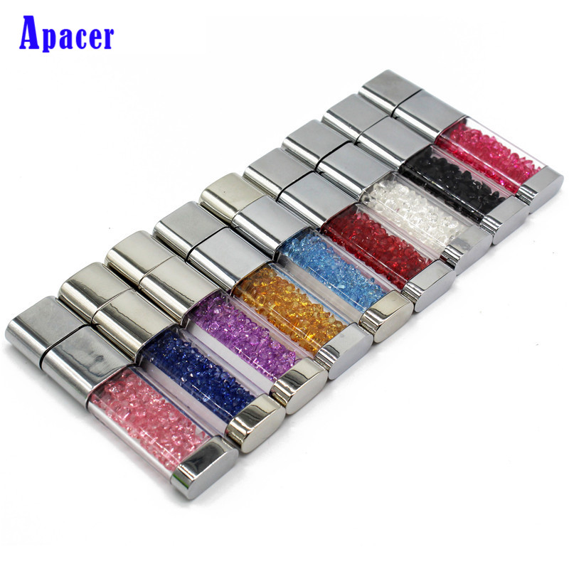все цены на Apacer Beautiful Crystal Pen drive 32GB Waterproof diamond 4GB 8GB 16GB usb flash drive онлайн