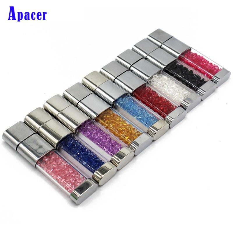 Apacer Beautiful Crystal Pen drive 32GB Waterproof diamond 4GB 8GB 16GB usb flash drive
