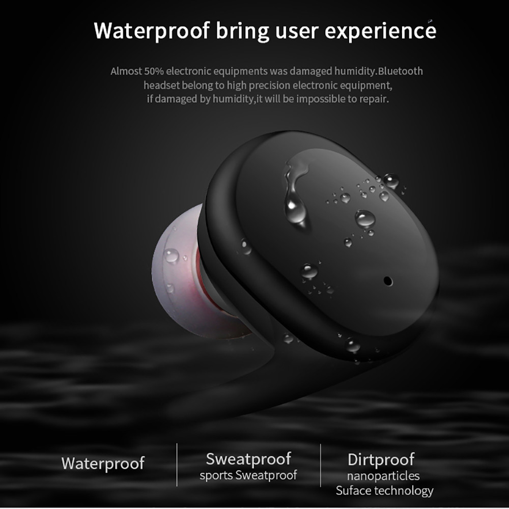 100% Brand New And High Quality Waterproof Wireless Earphones Mini Earbuds Twins S9100 Bluetooth Headset For Mobile Phone