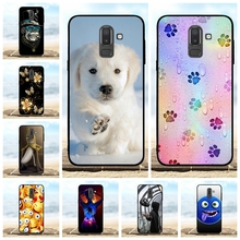 For Samsung Galaxy J8 Case Soft TPU J810F J810Y Cover Cartoon Patterned On8 J810G Shell