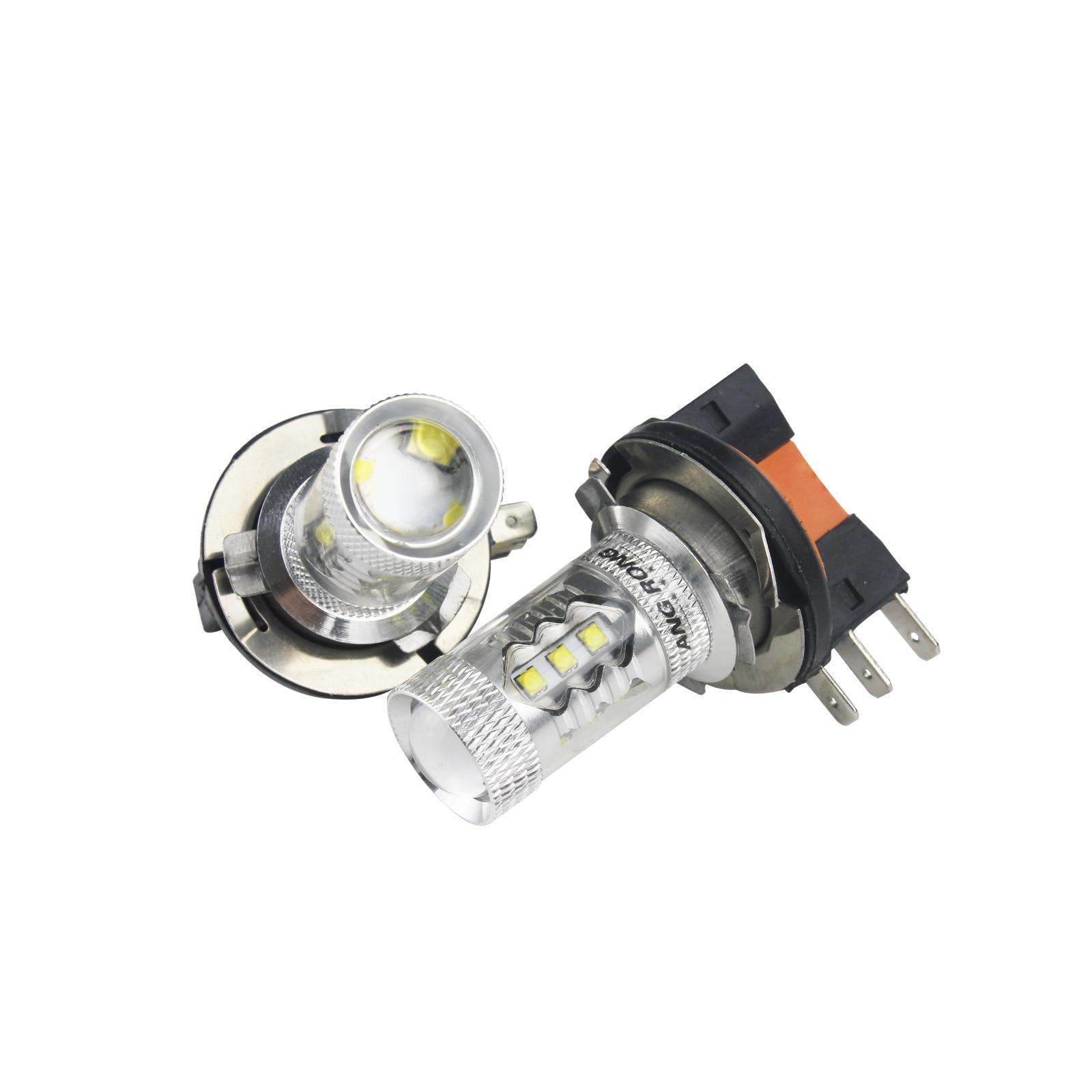 VW Caddy MK3 80w Super White Xenon HID Front Fog Light Bulbs Pair