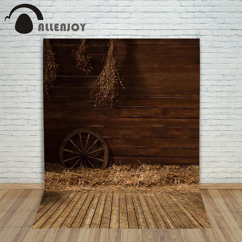 Photography background Wooden warehouse old house baby girl props fabric Allenjoy backdrops