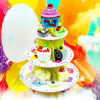1Pcs 3 Tier Cardboard Paper Cupcake Cake Stand Plates Display Holder Tray Muffin Dessert Wedding Birthday