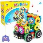 remote control car DIY Imagination Building Bricks Blocks Remote Control Car Building Kit Toys best gift