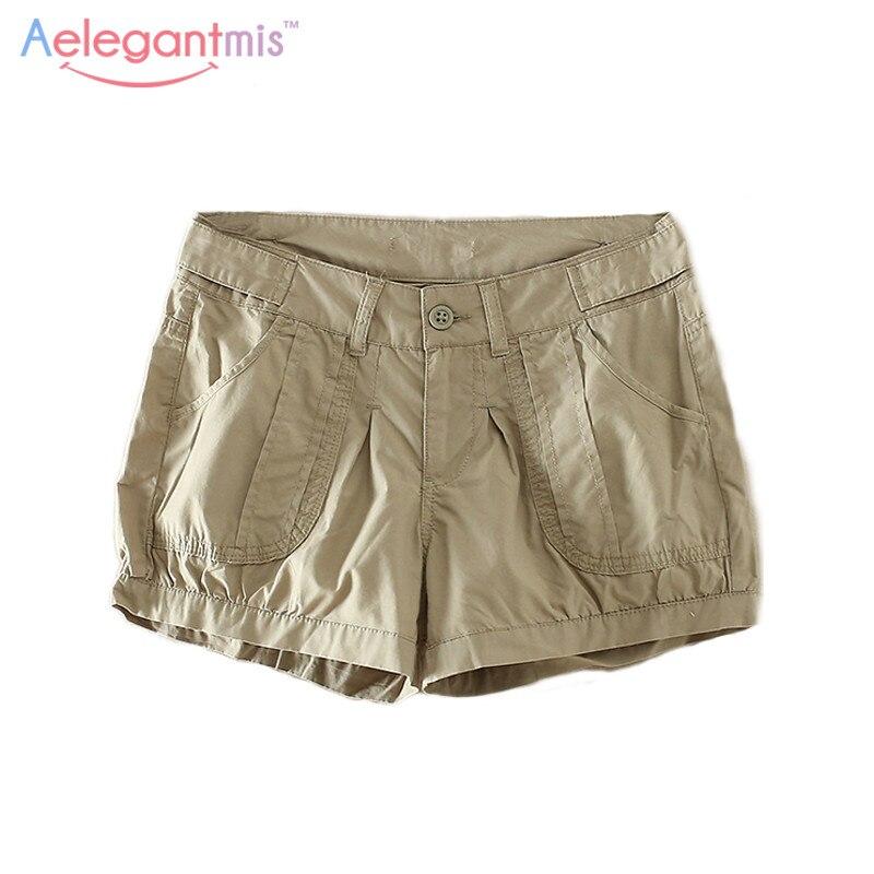 Popular Khaki Shorts Women-Buy Cheap Khaki Shorts Women lots from ...