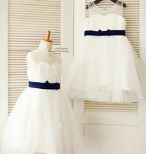 Платье с бантом для девочек платье причастия бальное маленьких