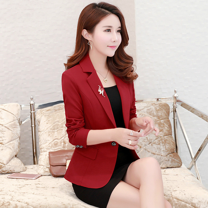 Small Suit Female Jacket Spring And Autumn New Style Slim Casual Long-sleeved Small Suit Female Business OL Temperament Shirt
