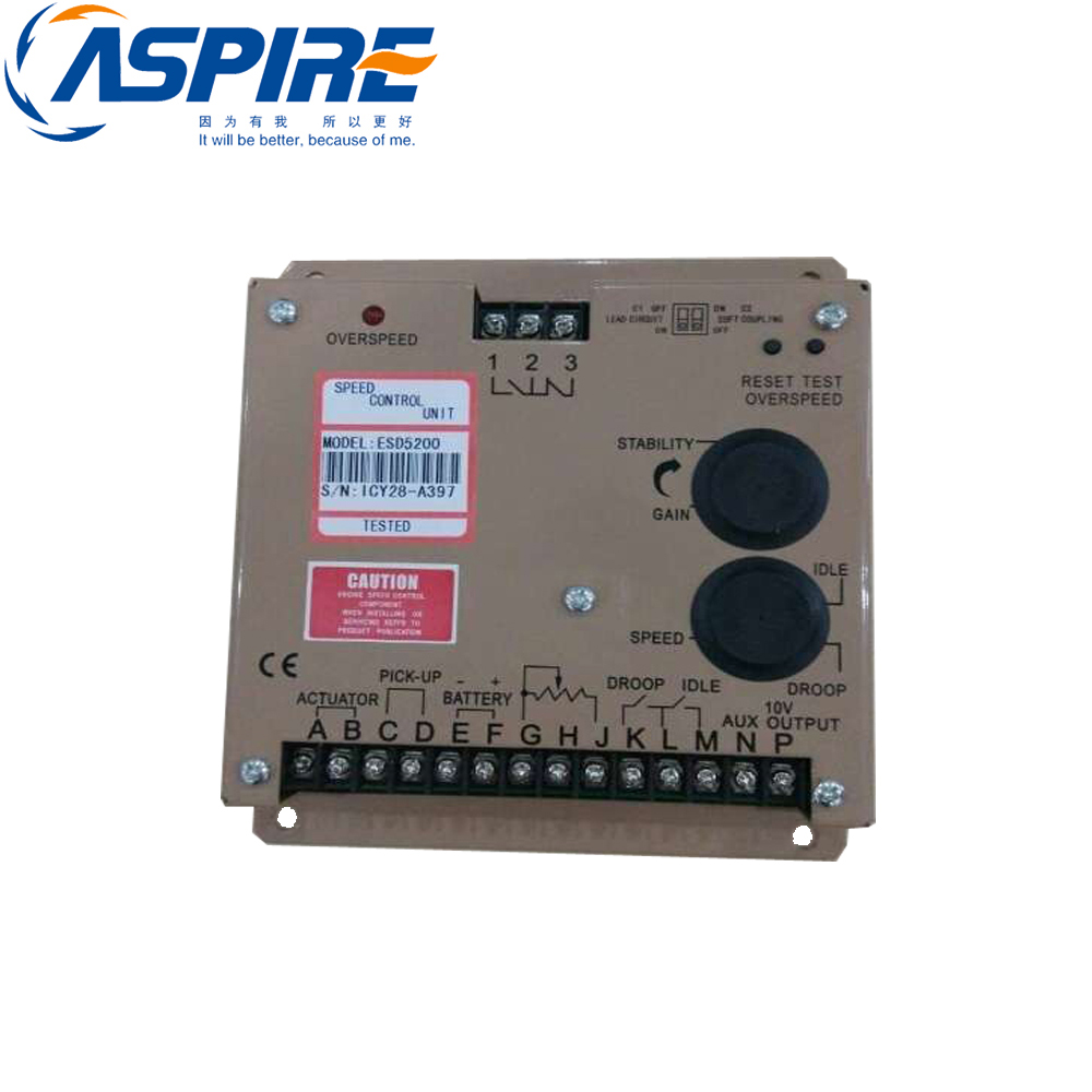 New SPEED controller ESD5200 for Diesel Generator generator speed controller 3098693