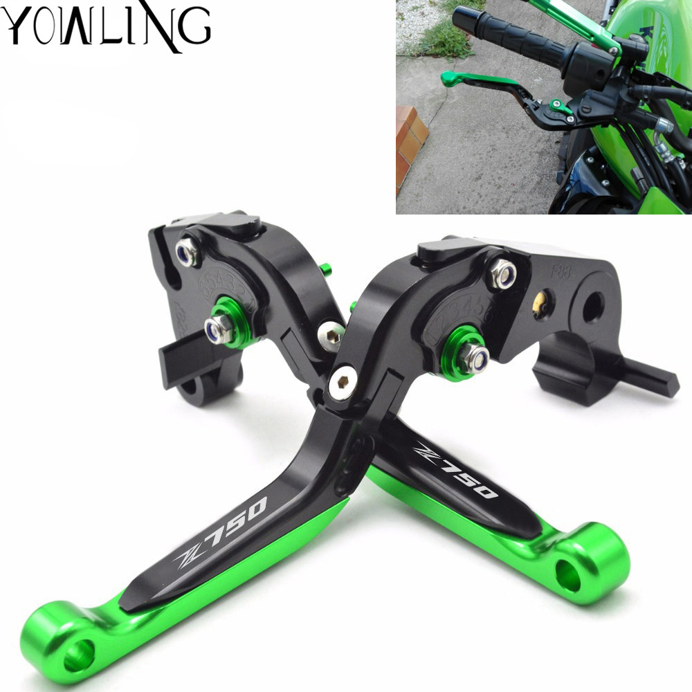 For KAWASAKI Z750 Z 750 2007-2012 Motorcycle Accessories Adjustable CNC Aluminum Brakes Clutch Levers Set Motorbike brake top new cnc motorcycle brakes clutch levers for aprilia caponord etv1000 rst1000 futura 2001 2007 accessories free shipping
