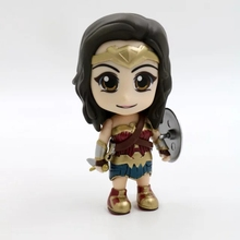 GSC Domic Super Hero Wonder Woman Anime Action Figures Justice League Q Cute Kawaii Lovely Edition Model Toys Kids 10cm Women