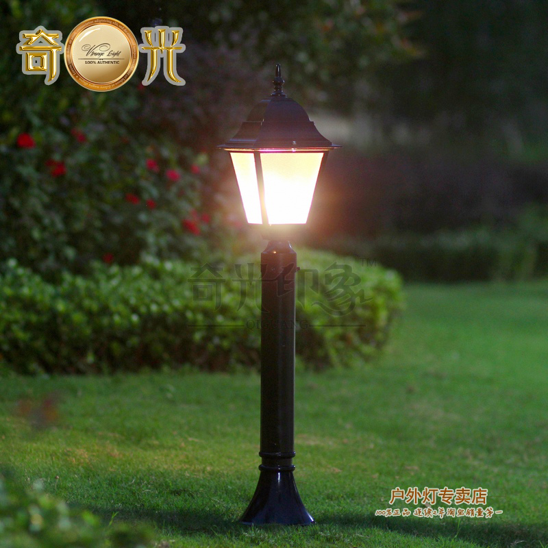 Black bronze110v 220v outdoor led lawn lamp waterproof for Lampioni da giardino obi