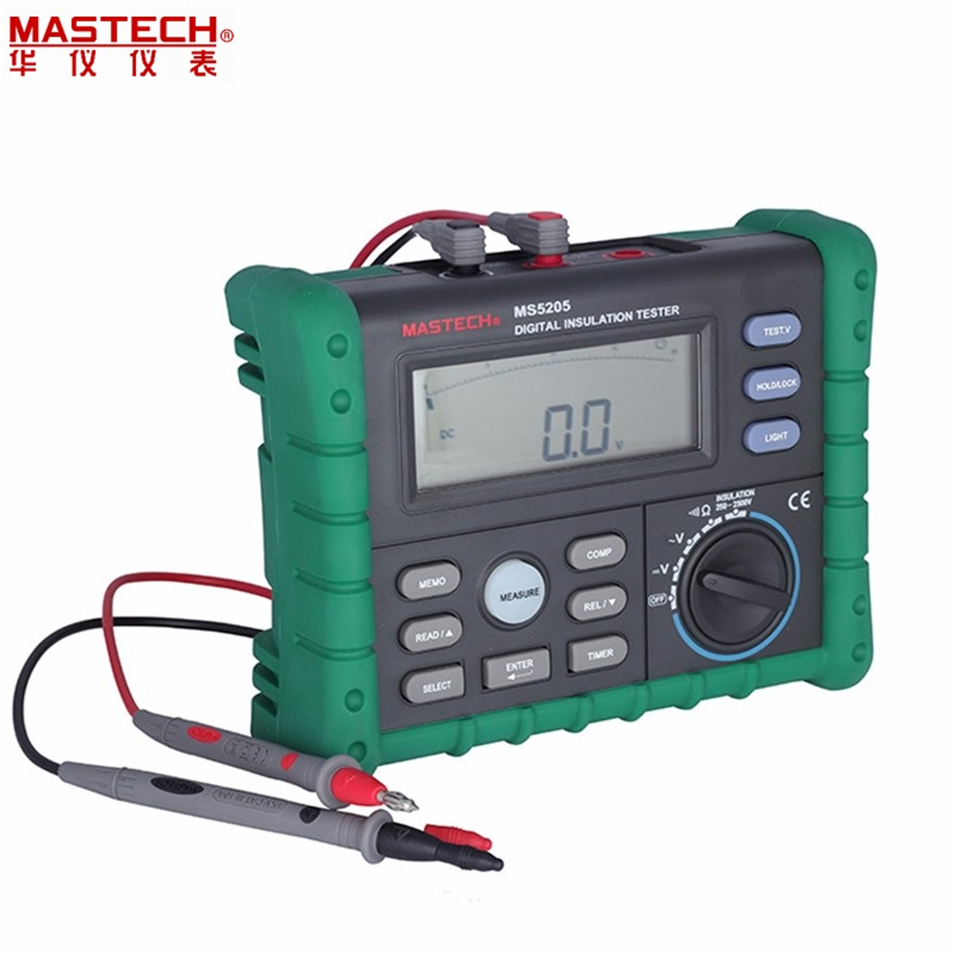 High Precision Digital MS5205 Insulation Tester Megger 100.0G MegOhm Meter DC 250/500/1000/2500V AC750V 500 v 1000v 2500v digital insulation resistance tester megger megohm testing meter lcd display