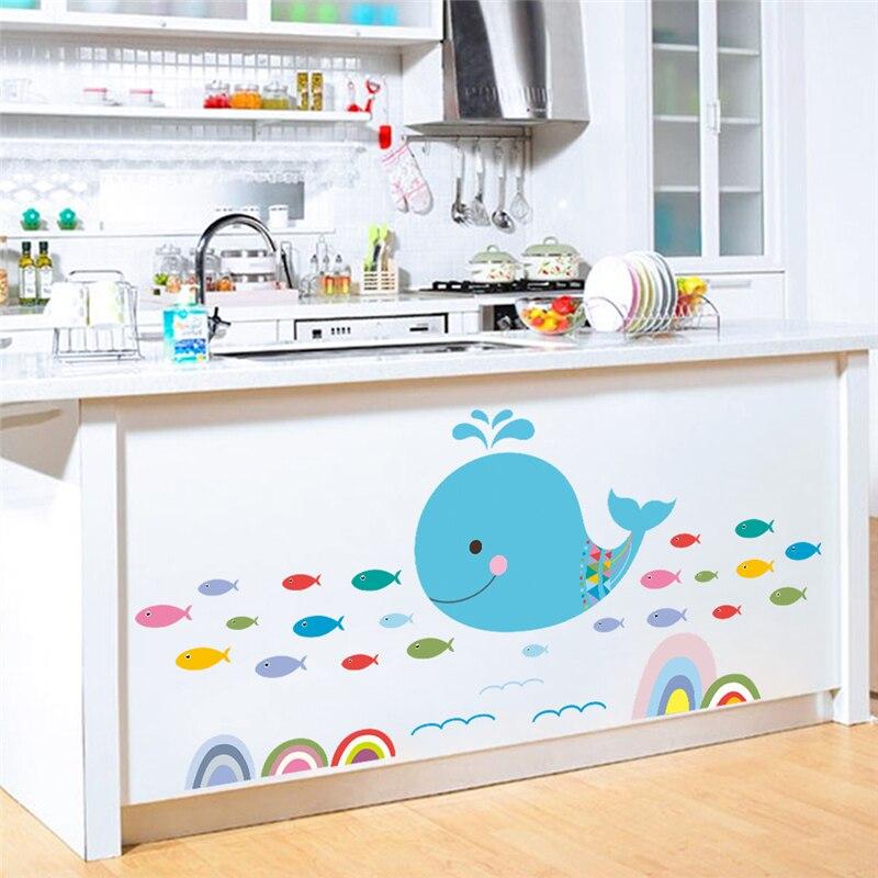 Cartoon Colorful Room: Cartoon Colorful Ocean Fish Wall Decals Kids Rooms