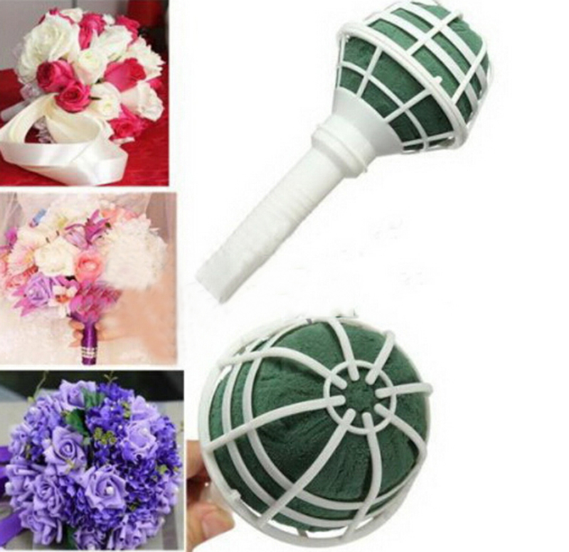 1pcs New Foam Bouquet Holder Handle Bridal Fl Wedding Flower Diy Decoration H0413 In Artificial Dried Flowers From Home Garden On Aliexpress