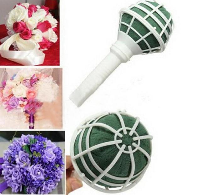 1pcs New Foam Bouquet Holder Handle Bridal Fl Wedding Flower Diy Decoration H0413