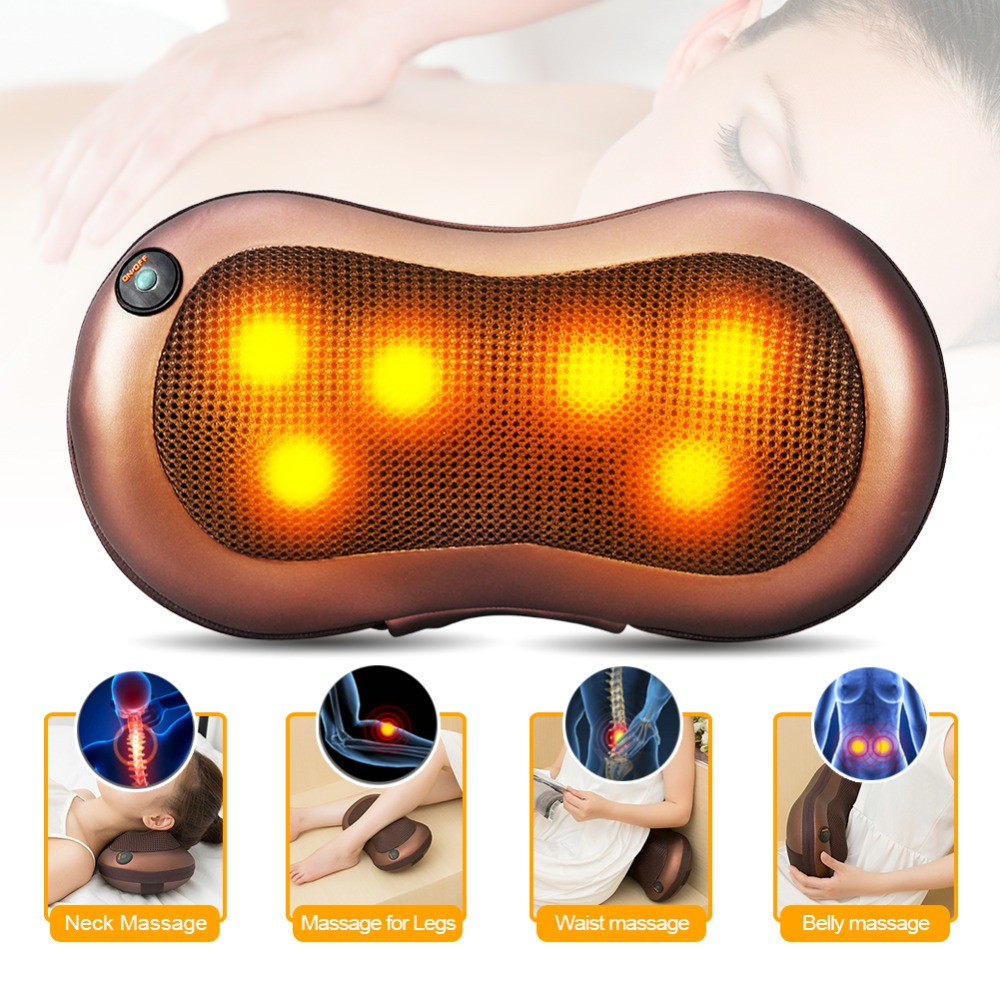 Multi-function Massager Car/Home Cervical Shiatsu Massage Neck Back Waist Body Electric Multifunctional Massage Pillow Cushion angelruila neck massager car home cervical shiatsu massage neck back waist body electric multifunctional massage pillow cushion
