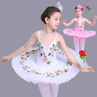 Pink white Ballet Dance Dress child Professional Ballet Tutu Swan Lake Costumes Ballerina Children Leotard Performance Dress