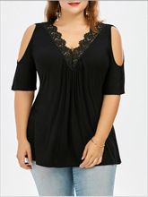 plus size women T shirt tops female summer clothes fashion style showing slimming shape clothing largest big wearing
