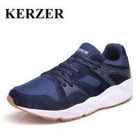 KERZER Trail Running Shoes Men Women 2017 Spring Summer Walking Jogging Sneakers Black Blue Gray Sneakers