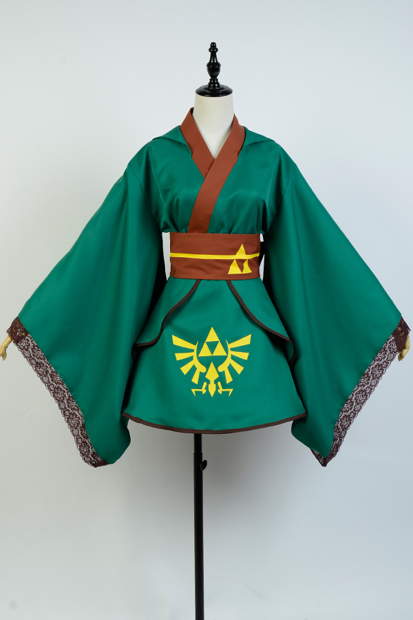 The legend of Zelda Hero Link Cosplay Costume Yukata Cosplay Kimono Robe Dress For Adult Women Girls Halloween Costumes