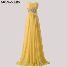 Женская мода без бретелек шифоновое вечернее платье Длинные свадебные платья горячие желтые длиной до пола Выпускные платья