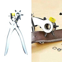 Multi Function Portable Puncher Heavy Duty Leather Hole Punch Hand Pliers Belt Holes Punches