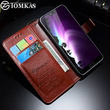TOMKAS Wallet Case For Huawei Honor 10 Case Leather Flip PU Cover Cases For Huawei Honor 9 Lite Card Business Phone Case(China)