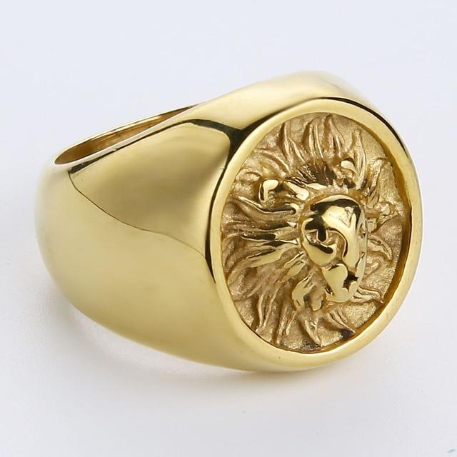 Bague lion or