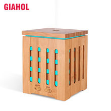 GIAHOL 200ML Natural Bamboo Essential Oil Diffuser With LED Color light USB Ultrasonic Aroma Spray Humidifier for home Bedroom