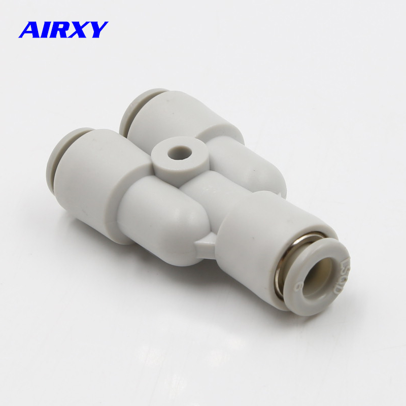 10pcs quot Y quot Pneumatic Connector Tee Union Push In Fitting for Air Pipe joint OD 4 6 8 10 12MM PY4 PY6 PY8 PY10 PY12 PY16 in Pneumatic Parts from Home Improvement
