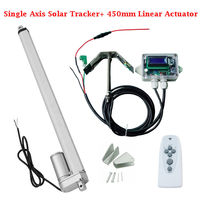 EU AU USA JAP Stock Single Axis Solar Tracker Kit: 12 Volt 18 Inch Stroke Linear Actuator Track Controller with Light Sensor
