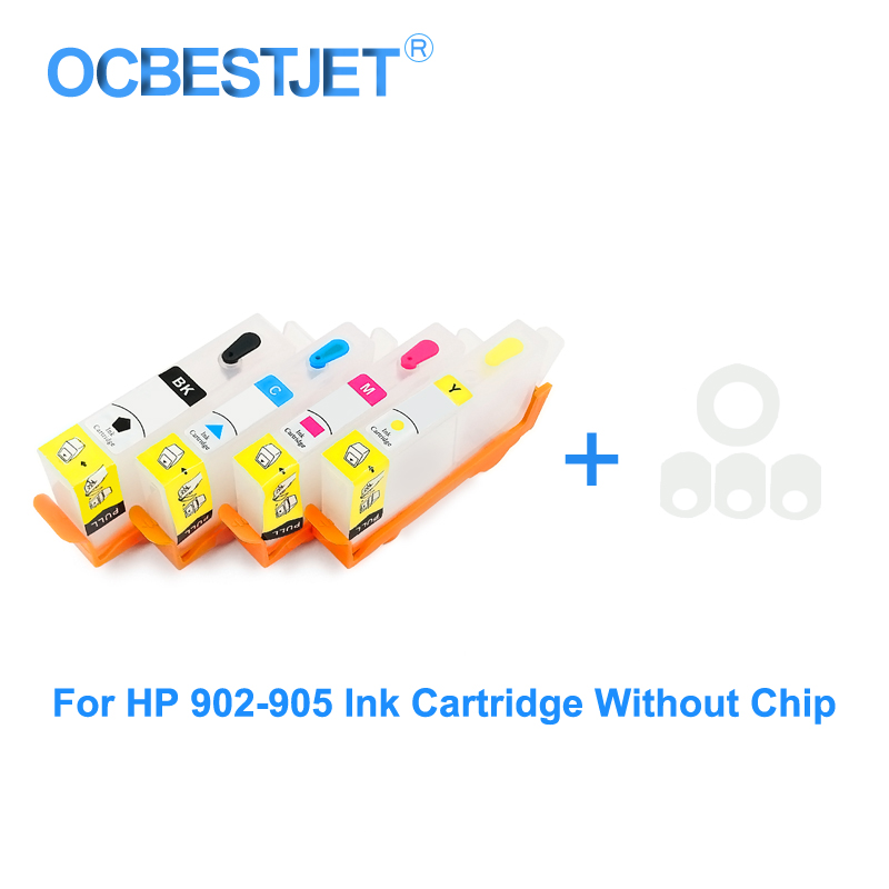 Replacement For <font><b>HP</b></font> <font><b>903</b></font> 904 905 <font><b>Refill</b></font> Ink Cartridge Without Chip For <font><b>HP</b></font> OfficeJet 6950 6960 6970 For <font><b>HP</b></font> 903XL No Chip image