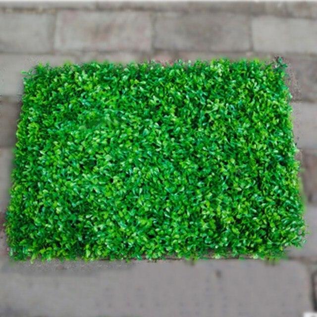 Plantes artificielles gazon synthétique plastique jardin vert haie ...