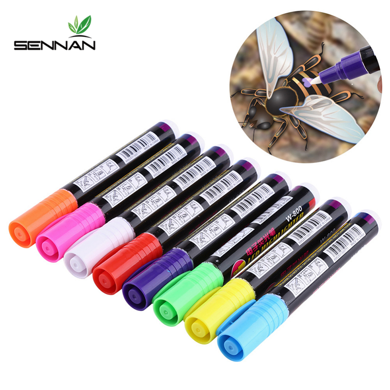 1 Pcs Queen Bee Marking Marker Pen Set 8 Color Beekeeping And Bees Tools Queen Bee Mark Plastic Marks Pen Bee Tools