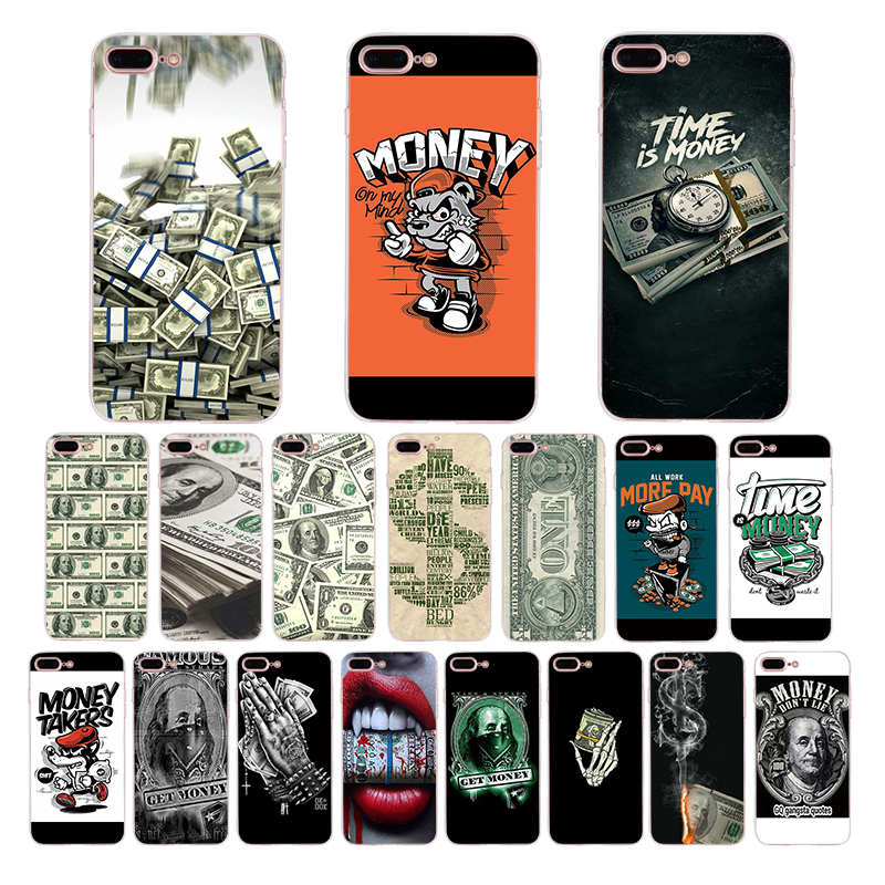 Amusing Money <font><b>Dollar</b></font> design Soft cover for Apple iphone 7 plus x xr xs max mobile <font><b>phone</b></font> case 6s 6 8 shell 5s se <font><b>5</b></font> Coque housing image
