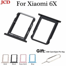 JCD Адаптеры для sim-карт mi 6X Для Сяо mi A2 6X mi A2 sim-карты слот, разъем для лотка держатель адаптеры Телефон Замена Корпус Запчасти