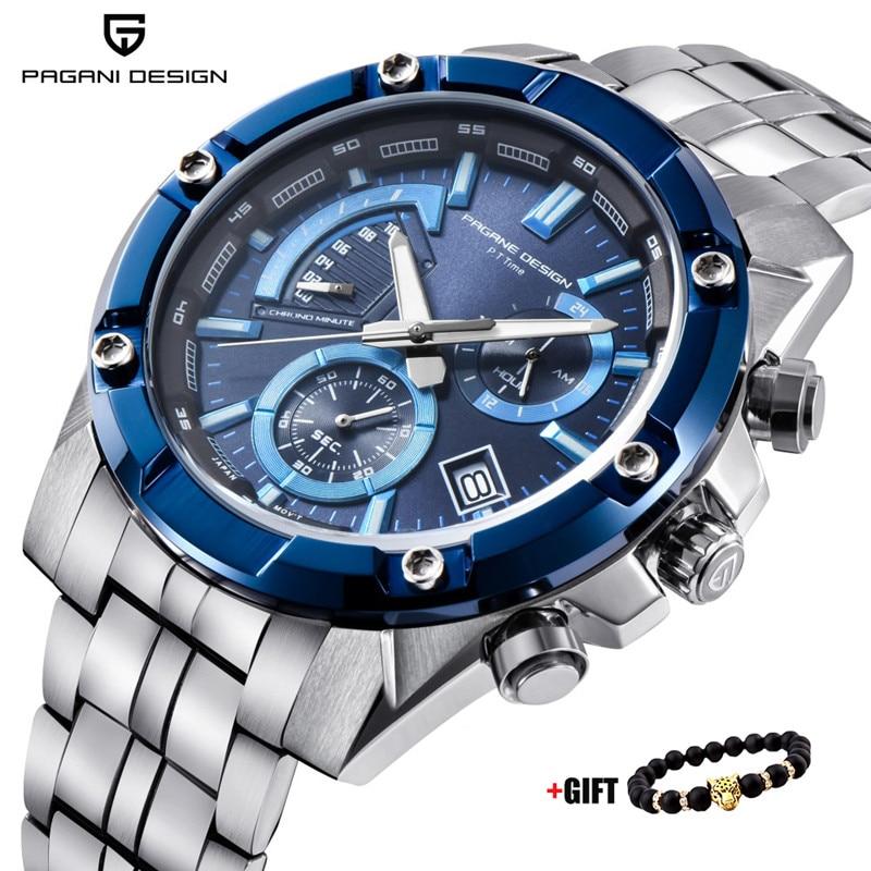 PAGANI CONCEPTION 2018 Nouvelle Marque De Luxe Chronographe D'affaires Montres Hommes Étanche Quartz Sport Montre Horloge Hommes Relogio Masculino