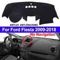 TAIJS Couverture De Tableau de Bord de Voiture Tapis de tableau de Bord Dash Pad Tapis Anti-UV Pour Ford Fiesta 2018 2017 2016 2015 2014 2013 2012 2011-2009 Pas de NAV