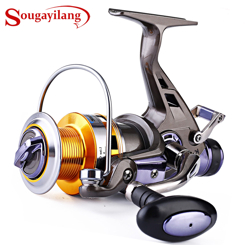 Sougayilang Carp Fishing Reel CNC Metal Spool Spinning Fishing Reel Right / Left Inter-changeable Handle 9+1BB Double Brake