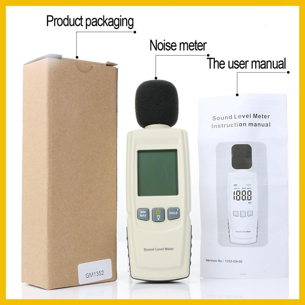 RZ Mini Sound level meters Decibel meter logger Noise Audio detector Digital Diagnostic-tool Automotive Microphone  GM1352