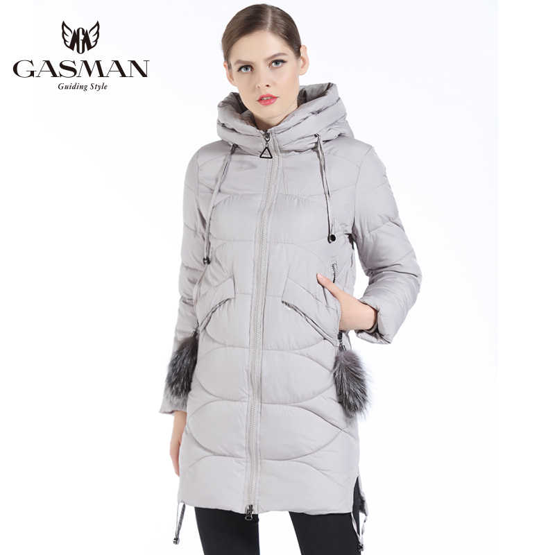 GASMAN 2019 New Winter 'S Coat  Down Female Jackets And Coats Fashion Brand Women Parka Hooded Winter Thick Coat
