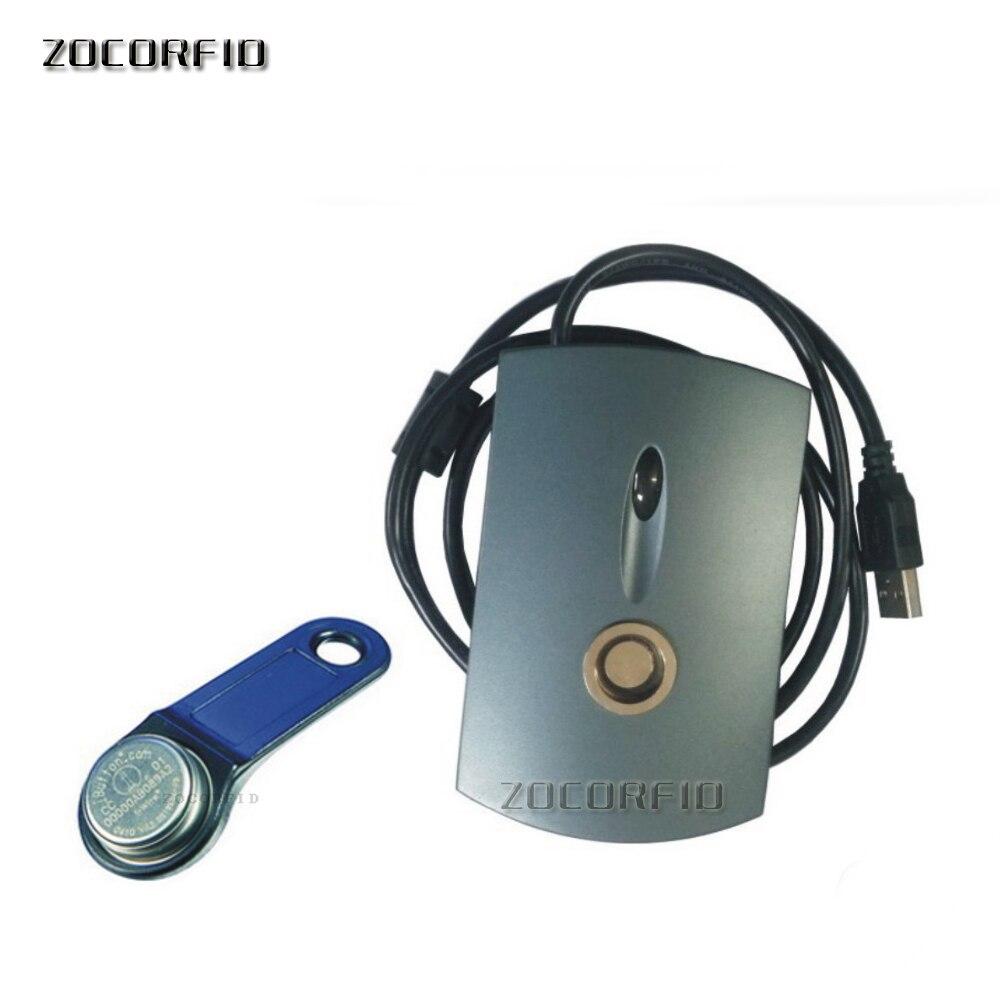 TM carte lecteur USB lecteur Plug And play peut lire tous les TM carte qui compatible DALLAS ibutton + 2 pcs TM1990A-F5 carte