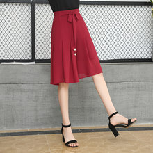 Office Chiffon Women Shorts Skirts Korean Style High Waist Wide Leg Short Pants Plus Size 4XL Women Lady Elegant Shorts Skirts(China)