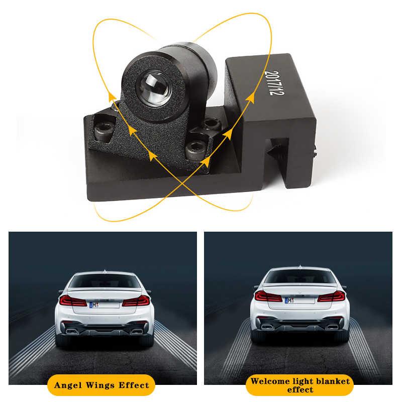 Nóng Đôi Cánh Thiên Thần Cho F10 F11 Xe BMW Series 5 LED Hoan Nghênh Bạn Đã Đèn Ma Bóng Lịch Sự Cửa Bên Ngoài Cảnh Báo Light mặt Đất Đèn