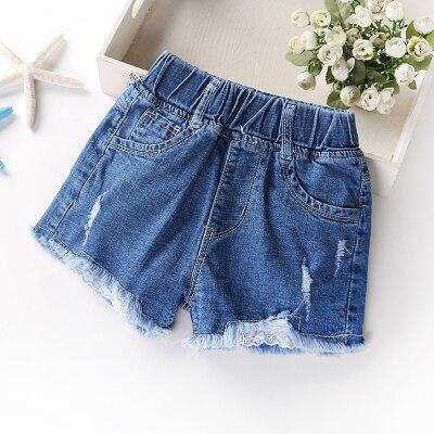 (1 Teile/los) 100% Baumwolle 2016 Neue Rosa Mädchen Denim Shorts Hosen Für Kinder