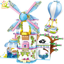 620pcs Windmill Dream House Building Blocks Compatible legoingly Friends For Girl balloon city princess Bricks Children Toys(China)