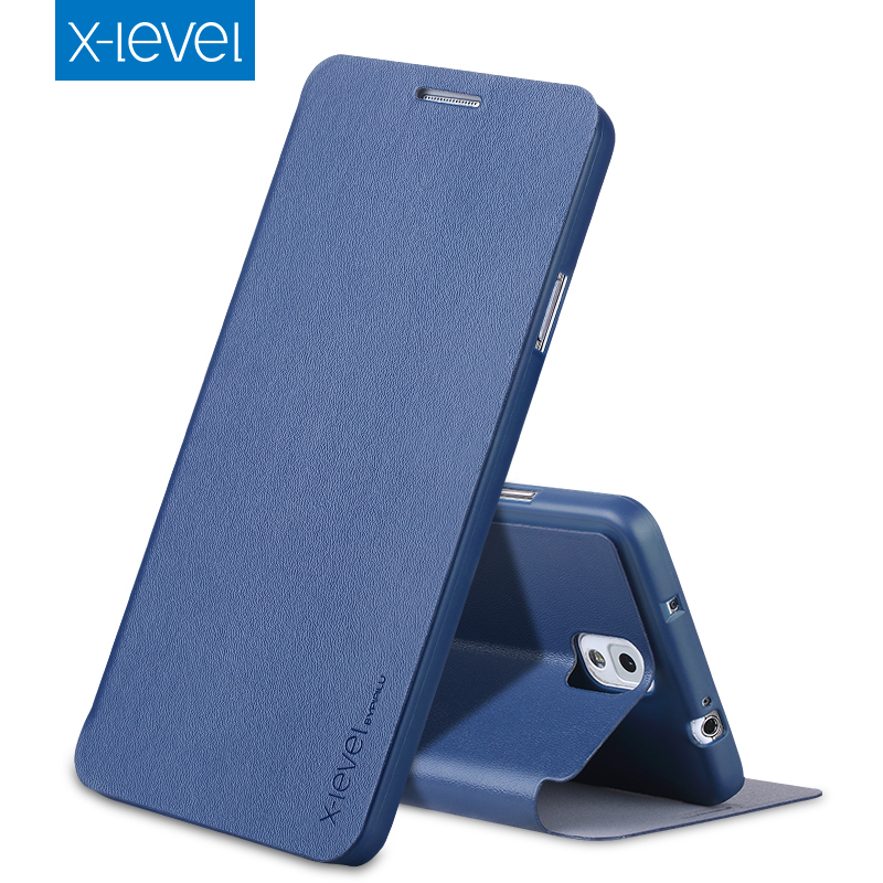 X-Level Luxury Business PU Leather Case for Samsung Galaxy Note 3/Note III thin Flip Cover for Samsung Note3 N9000 N9005 Case