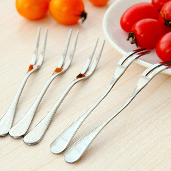 ©2 шт. Нержавеющая сталь фрукты вилка практических обед ...